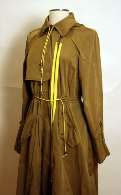 Tracy Reese Hood Asymmetric Trench Coat Image 4