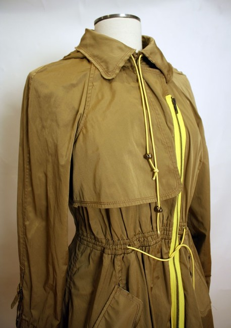 Tracy Reese Hood Asymmetric Trench Coat Image 5