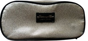 Betseyville Gold glitter with black trim, zip around cosmetic bag