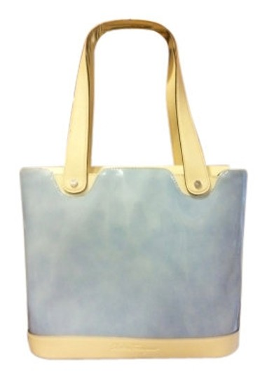 Preload https://item5.tradesy.com/images/salvatore-ferragamo-medium-size-light-blue-and-cream-leather-tote-13074-0-0.jpg?width=440&height=440
