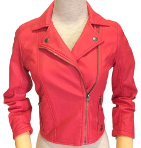Hollister Faux Leather Pink Leather Jacket