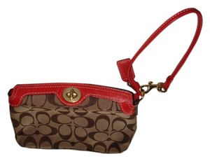 Coach Wristlet in Brown Signature
