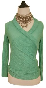 Forever 21 21 Wrap Sweater Turquoise Cardigan