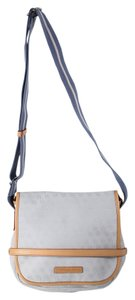Dooney & Bourke Light Blue/ Tan Trim Messenger Bag