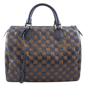 Louis Vuitton Paillettes Pailettes Sequins Sequined Satchel in Ebene