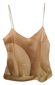 Theory Silk Camisole Top Beige