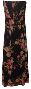 Floral with black base Maxi Dress by Forever 21