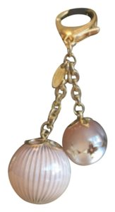 Louis Vuitton Louis Vuitton rare Blush Ball Gold Bag charm Key holder Monogram
