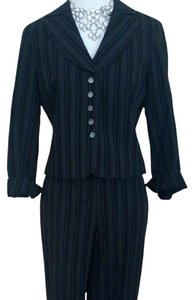 Dalia DALIA 2 piece pant suit pinstripped black blue