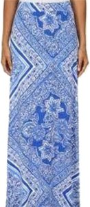Lilly Pulitzer Maxi Skirt Royal blue and white
