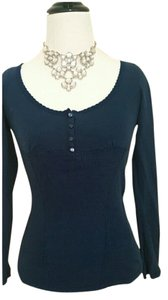 Guess Cotton Longsleeve Spring Top blue