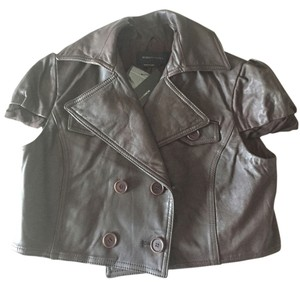 BCBGMAXAZRIA Bcbg Bcbg Leather brown Leather Jacket