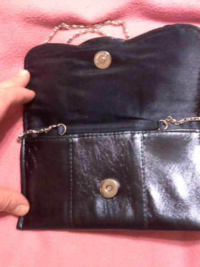 Other Metallic Faux Leather blue Clutch