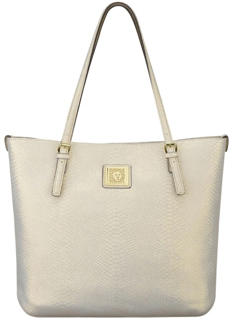 Item - ** New ** ** Large Perfect Gold Faux Leather Tote