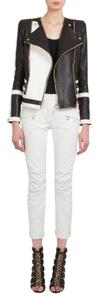 Balmain Moto Structed Silhouette Lambskin Leather Jacket
