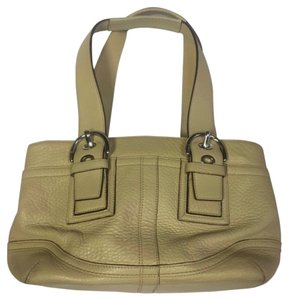 Coach Leather Tote in Beige