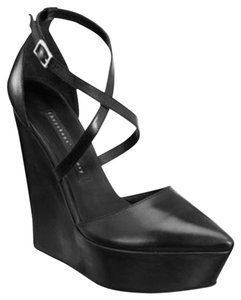Theory Ankle Strap Pump black Wedges