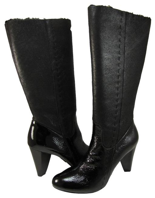 Item - Black Jeans Patent Casual Tall Zipper Fashion Boots/Booties Size US 7.5
