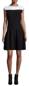 Armani Collezioni Fit & Flare Colorblock Knit Dress