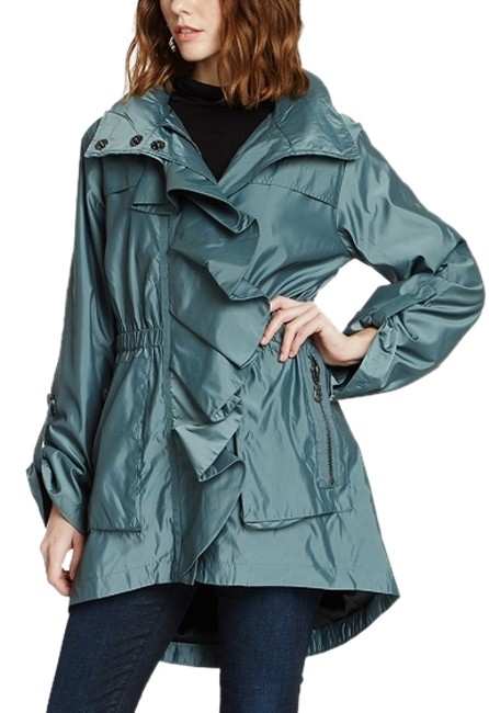 """Item - Marine Teal """"Amadeus"""" Water-resistant Parka Activewear Outerwear Size 4 (S, 27)"""