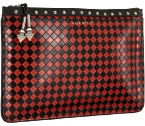 Givenchy Red Black Clutch