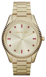 Michael Kors NWT Michael Kors MK3246 Blake Gold Watch Pink Crystals Glitz Band