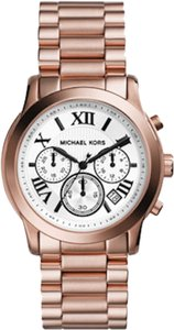 Michael Kors NWT Michael Kors Cooper Rose-Golden Runway Chronograph Watch
