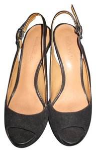 L.A.M.B. Open-toe Slingback Heel black Pumps
