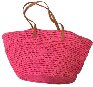 Straw Studios Hot Pink Beach Bag