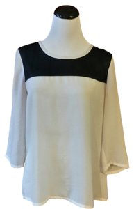 Express Top off white / black