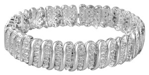 & Other Stories Genuine Diamond Tennis Bracelet in Sterling Silver - Clearance