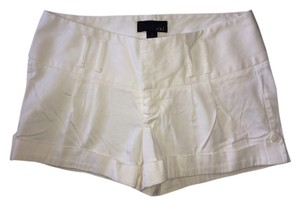 Forever 21 Pleated Modern Dressy Trendy Cuffed Shorts White