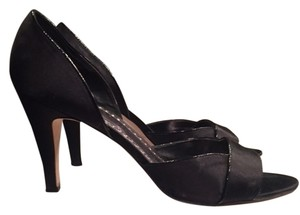 White House | Black Market Formal Dressy High Heels Dress Satin Dressy Satin Black Pumps