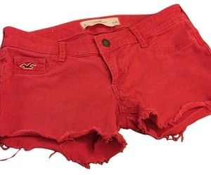 Hollister Cut Off Shorts Red
