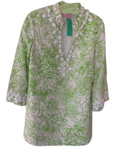 Lilly Pulitzer Bright Top Green and White