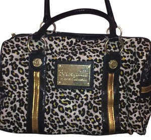 Betseyville by Betsey Johnson Leopard Glitter Satchel