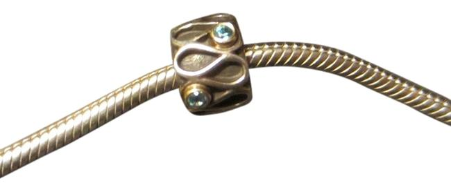 Item - Turquoise Silver and Gold Swirl Charm