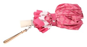 Coach * Coach Pink Monogram Umbrella