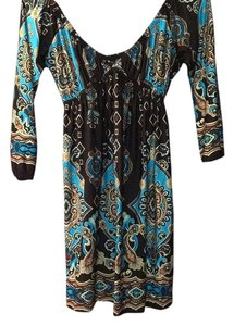 bailey blue short dress Brown, turquoise on Tradesy
