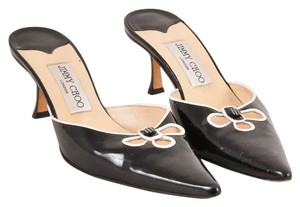 Jimmy Choo Black patent leather Mules