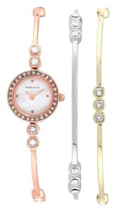 Anne Klein Anne Klein Rose Gold Tone Watch and 2 Stackable Bracelets Set