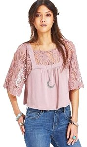 Free People Top Pink Mauve Rose