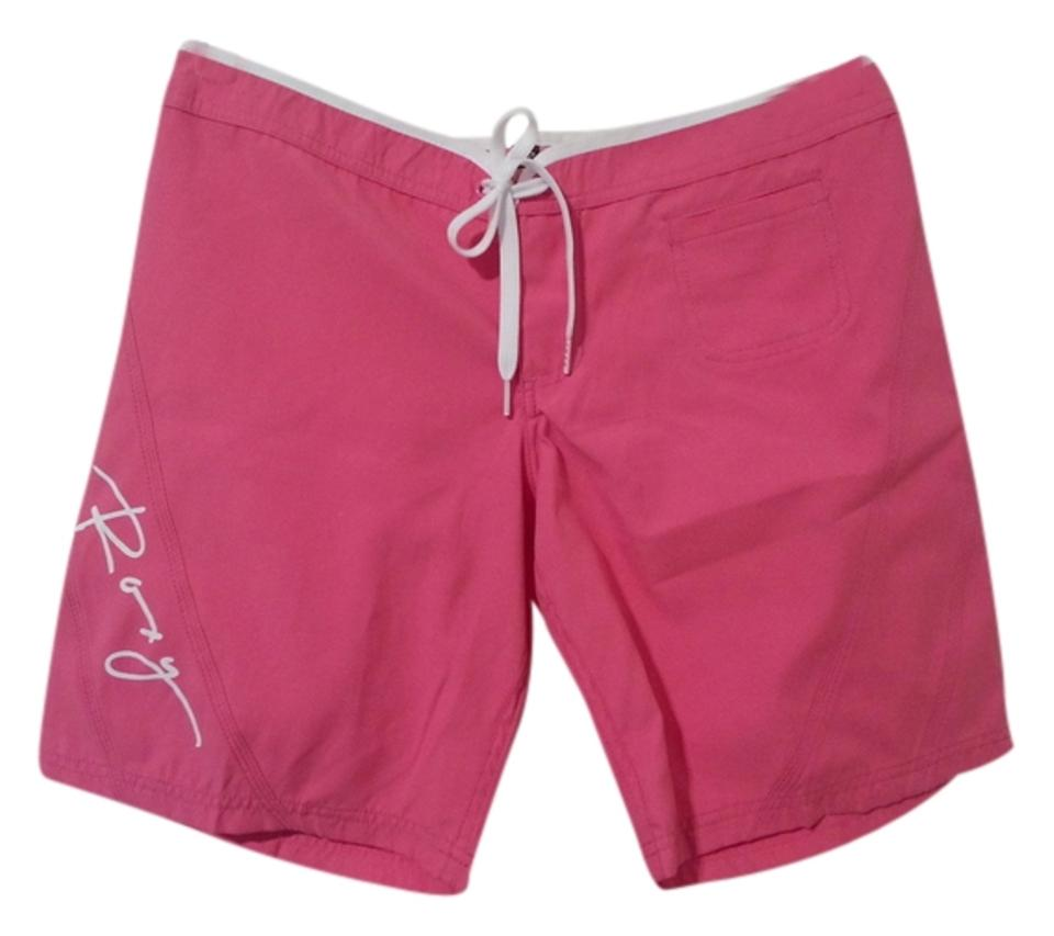 f4aa1f922b Roxy Pink with White Writing and Design Brand Logo Shorts Size 6 (S ...