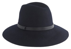 J.Crew J. Crew Wide Brimmed Felt Hat With Leather Band
