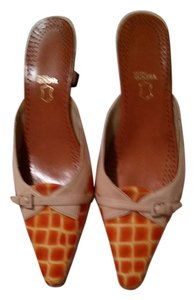 Via Spiga Dusty Pink and orange leather Mules
