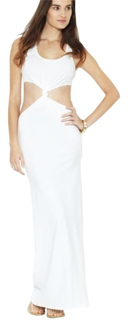 Item - White Katie Cut Out Sleeveless Long Casual Maxi Dress Size 4 (S)