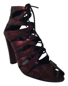 Delman Darci Metallic Red Boots