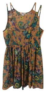 Bar III short dress multi-color Floral Flowy on Tradesy