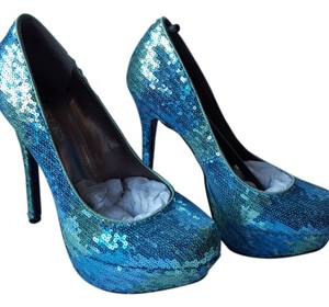 Bakers Sequin Blue aqua Pumps