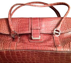 Liz Claiborne Satchel in Chestnut Brown